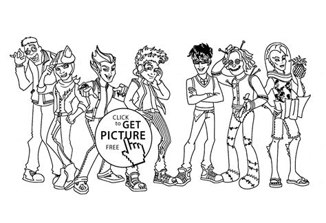 Monster High Boys Coloring Page For Kids For Girls High Boy Coloring Pages