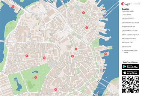 printable map boston boston printable tourist map sygic travel
