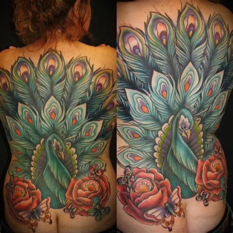 tattoo online gallery peacock back piece by rebecca smith beccadoodletattoos