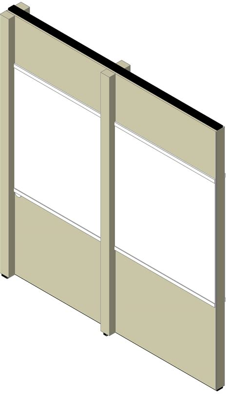 Interior Partition Types by Bim Objects Families