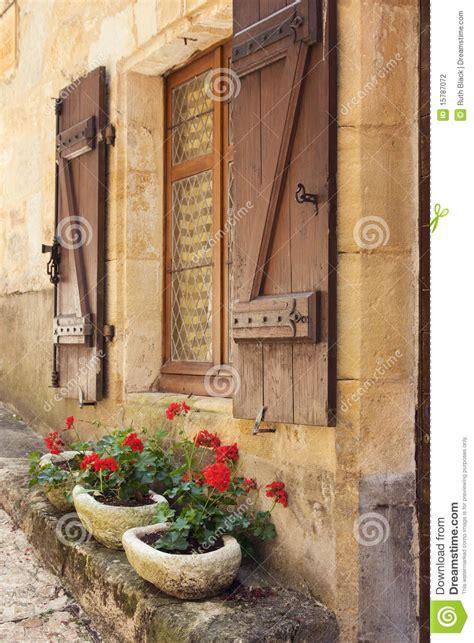 mediterranean window boxes stock photography image