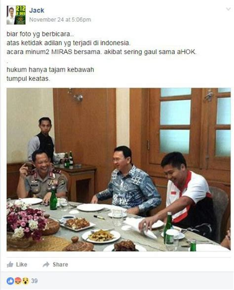 ahok fake news netizens taunt anti ahoker who accused police chief of