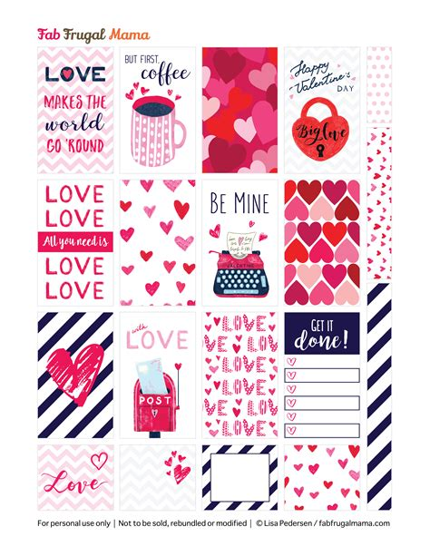 free printable valentines planner stickers free printable happy planner valentine stickers fab