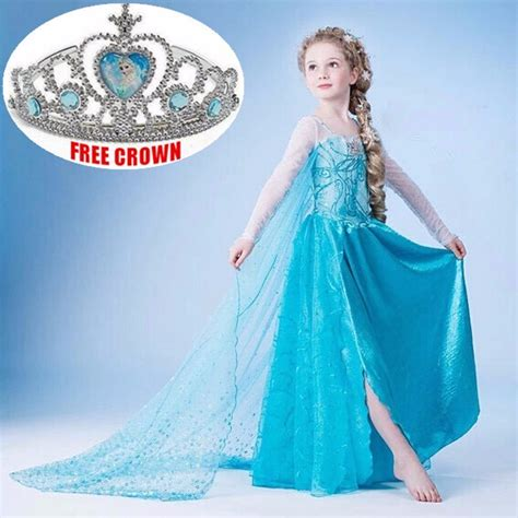 Kids Girls Dresses Disney Elsa Frozen dress costume Princess Anna party Dresses   eBay