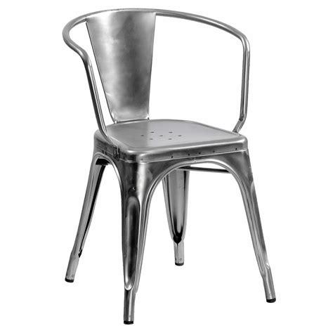 fauteuil acier fauteuil a56 de tolix acier brut 4 finitions