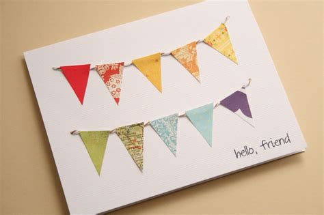 Paper Greeting Cards - the creative place diy paper bunting greeting card