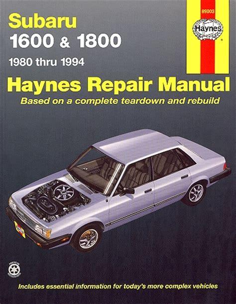 subaru loyale factory service manual bbsgett subaru 1600 1800 brat xt loyale repair manual 1980 1994 haynes