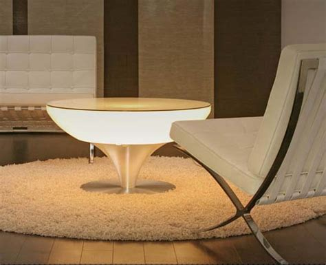 furniture and lighting lounge table design combined with led lighting