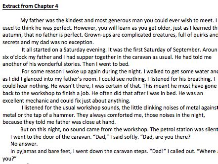 danny the chion of the world chapter 4 extract and