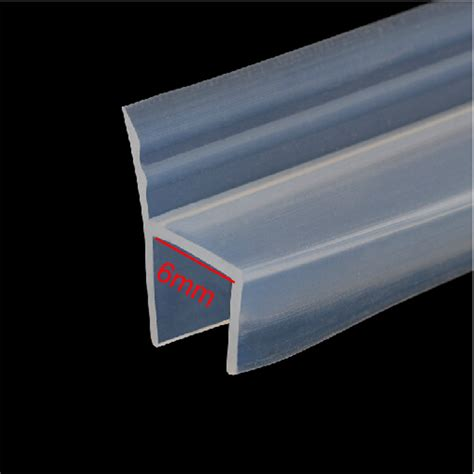 Rubber Seal Shower Door 3 Meters H Shape Shower Glass Door Silicone Rubber Seal For 6mm Glass In Sealing Strips