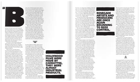 quotation page layout little white lies magazine layout editorial design