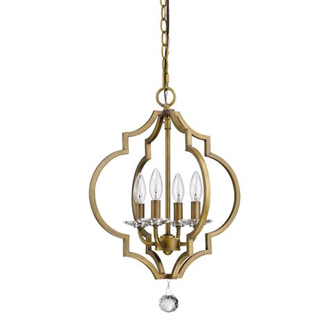 Chandeliers And Pendant Lighting Acclaim Lighting Peyton 4 Light Indoor Brass Chandelier With Bobeches In11017rb
