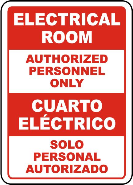 electrical room sign electrical room authorized personnel only sign by safetysign