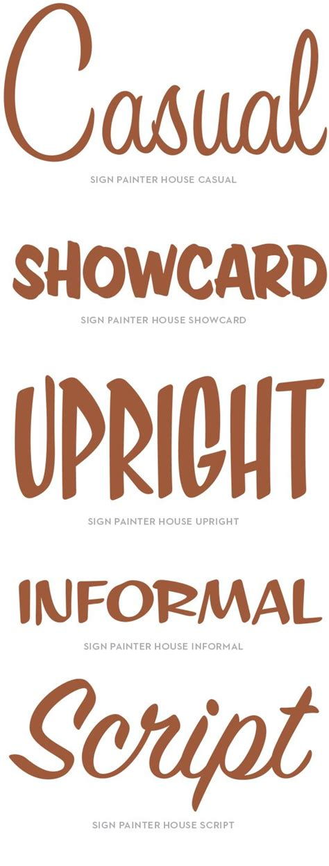 sign painter house casual font house industries sign painter specimen casual showcard upright informal script