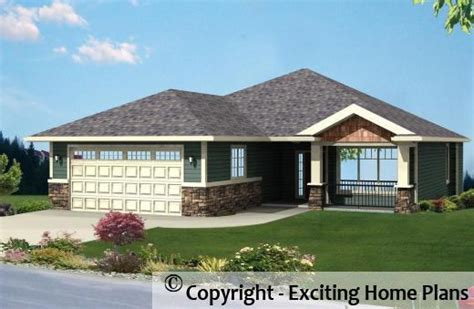 modern house garage cottage blueprints by