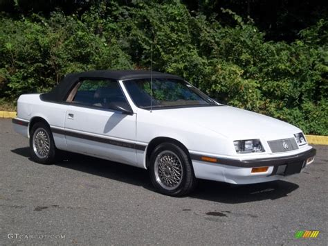 Chrysler Lebaron Gtc by Bright White 1989 Chrysler Lebaron Gtc Turbo Convertible