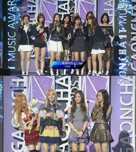 blackpink twice winners of the 6th gaon chart music awards soompi
