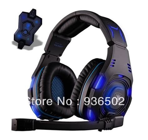 Headset Log On Powerful Voice Bass With Mic newest high end level 7 1 sound gaming headset sa 907
