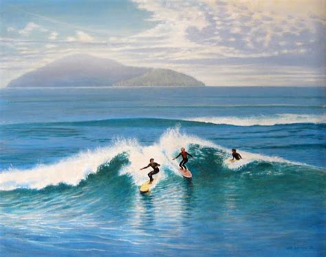mark rowley nz len cutten artist surfing otaki