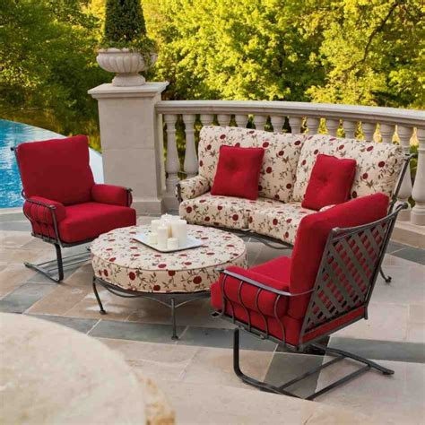 Red Patio Chair Cushions Home Furniture Design Outdoor Patio Furniture Set