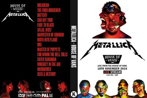 metallica dvd metallica house of vans 2016 dvd rare rock dvds