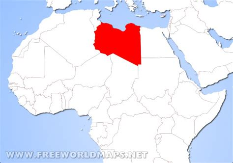 libya on the world map where is libya located on the world map