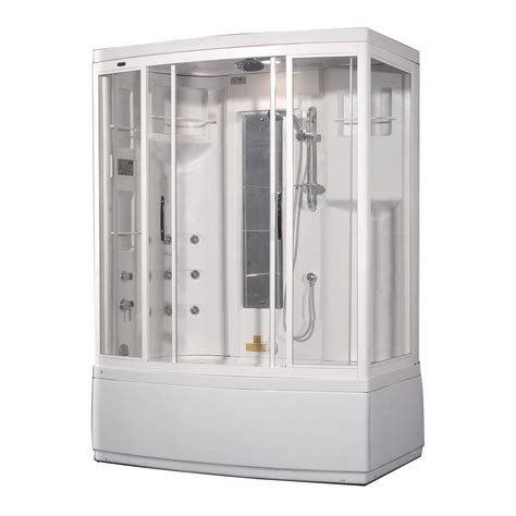 bathtub shower enclosure kits aston 59 inch x 36 inch x 86 inch steam shower enclosure