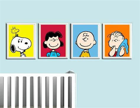 wandtattoo kinderzimmer snoopy brown nursery wall peanuts snoopy