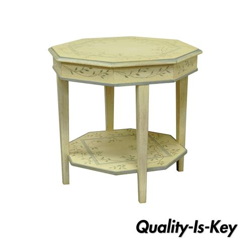 painted accent tables vtg drexel country diary collection painted floral occasional side accent table ebay