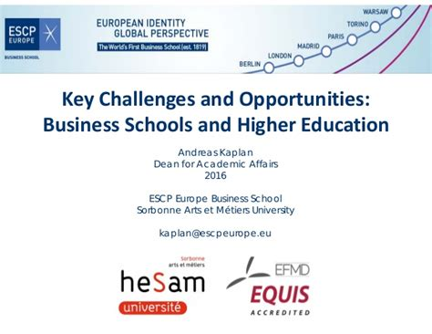Mba Higher Education by Key Challenges And Opportunities Business Schools And