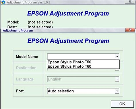 software adjustment resetter program epson t60 epson stylus photo t60 software