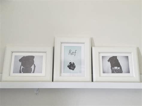 pug keeps paws diy framed paw print the pug diary