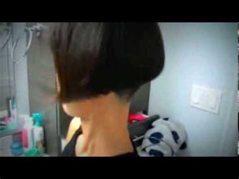 Nape buzz/ fresh trim    short bob    ear level   YouTube