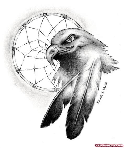 dream catcher tattoo eagle native american eagle dreamcatcher tattoo design tattoo