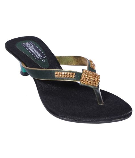 Sandal 3 1 Square Diamonds Redmayumi Sa004 1 generation footwear green chain square wear sandal for price in india buy