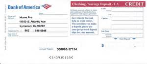 bank of america printable deposit slip html autos weblog