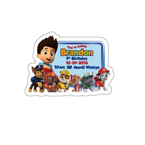 jual kartu undangan ulang tahun bentuk karakter paw patrol brandons house