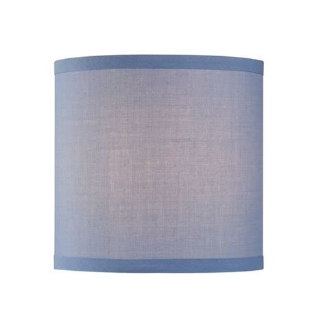 uno drum l shade uno drum l shade in blue linen sh9526 destination