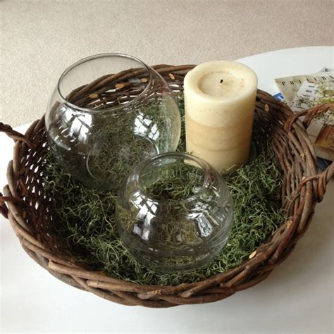 Candle Coffee Table Centerpiece 17 Best Images About Centerpiece Baskets On Pinterest Glass Candle Flower Basket And