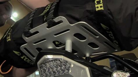 touratech bmw fgs rear luggage rack review youtube