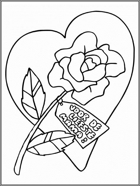 kleurplaat bloem moederdag moederdag kleurplaat kleuters moederdag cadeautjes