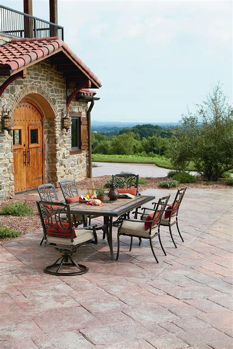 Agio International Tuscany Outdoor 7 Piece Patio Dining Agio Patio Dining Set