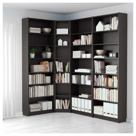 Billy Bookcase by Billy Bookcase Black Brown 215 135x237x28 Cm Ikea