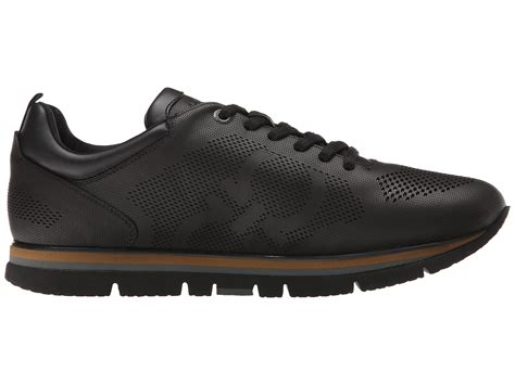 feragamo sneakers ferragamo mustang sneaker in black for lyst