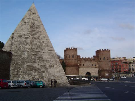 porta san paolo rome file porta san paolo piramid cestius jpg wikimedia commons