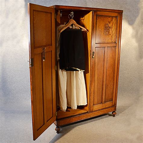 armoire english antique wardrobe oak edwardian english armoire antiques atlas
