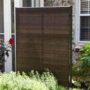 Outdoor Room Dividers Versare Outdoor Wicker Resin Room Divider Privacy Screens At Hayneedle