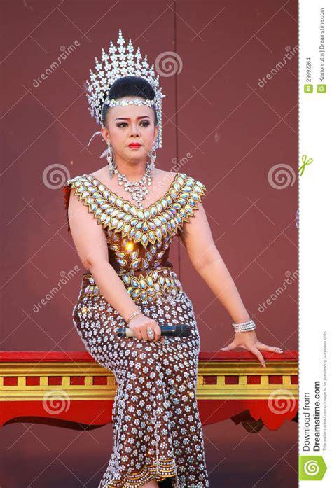 Dress Bangkok Bkk 0023 thai traditional dress editorial stock image image of actor 29992264