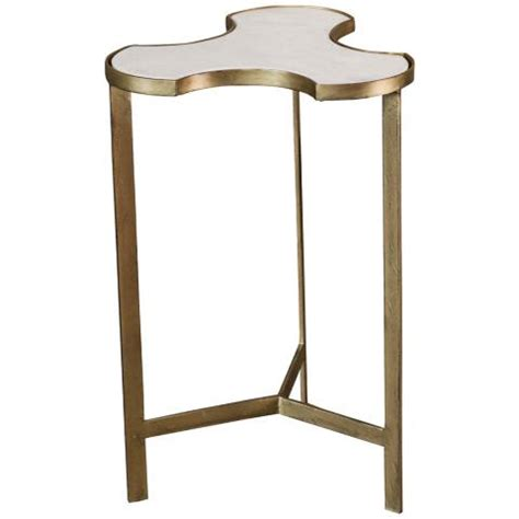 Link Festive Table Tops by Global Views Link Bunching Gold Marble Top Accent Table