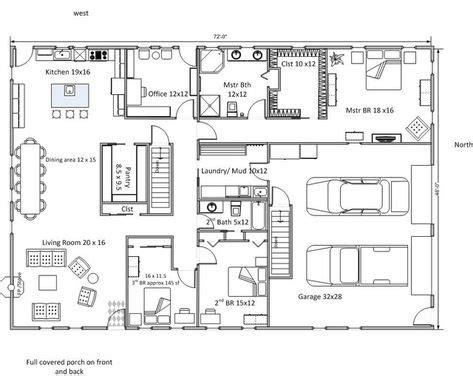 rectangular bungalow floor plans pinterest the world s catalog of ideas